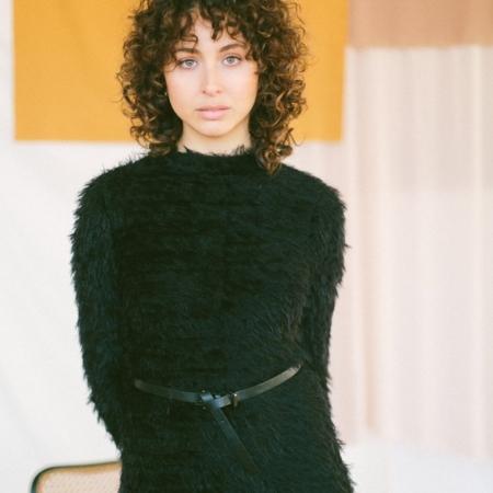 BLACK TEXTURE DRESS