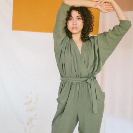 SAGE GREEN JUMPSUIT