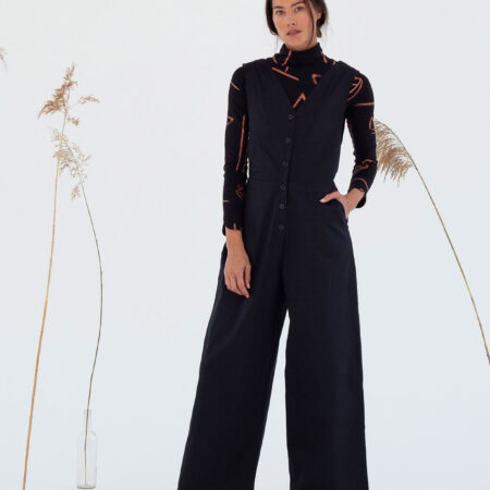 ODA SATIN JUMPSUIT